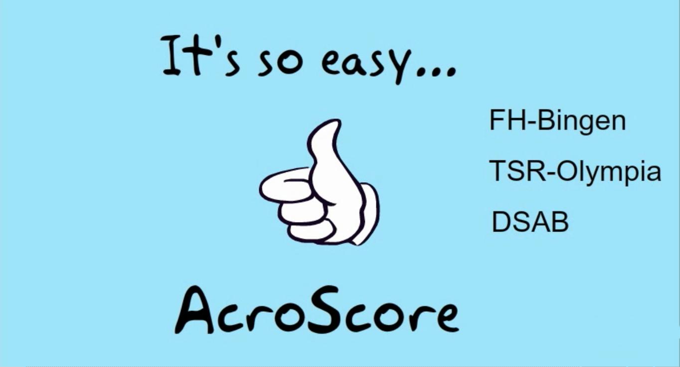 AcroScore – Der neue Stern am Sportakrobatikhimmel