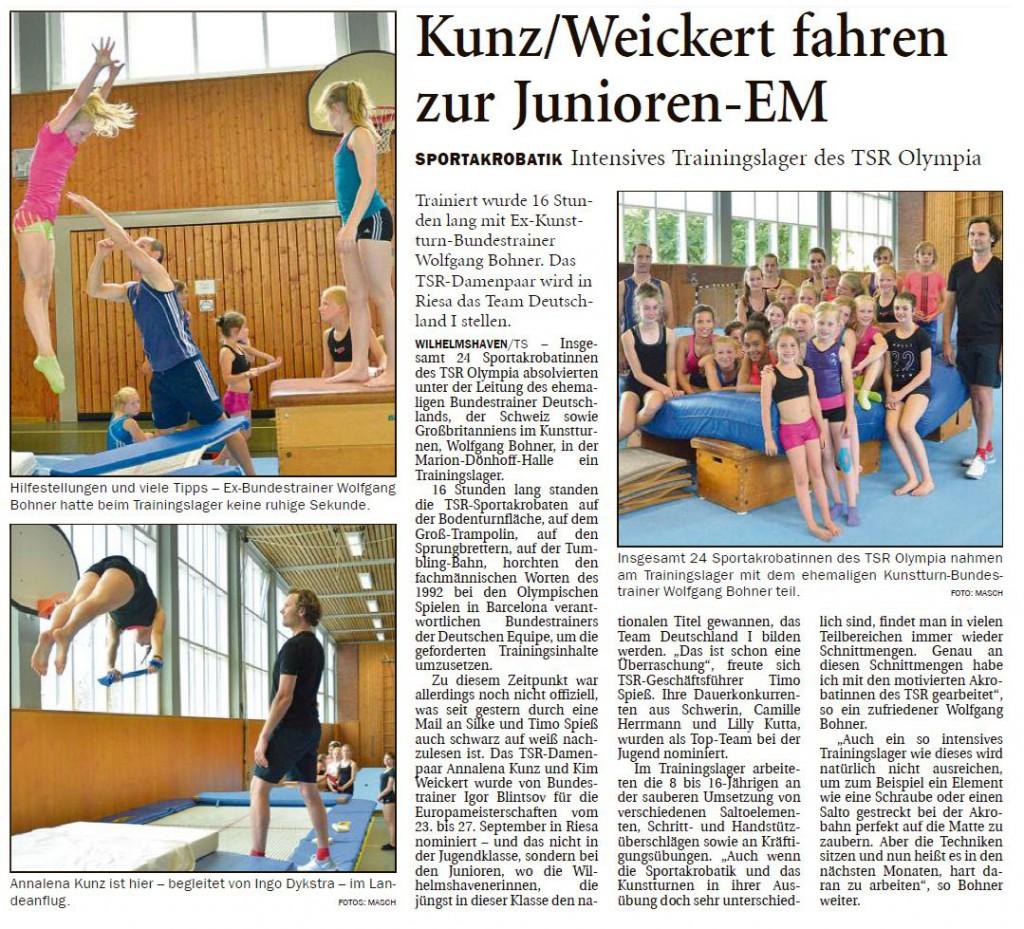 Wilhelmshavener Zeitung vom 16.07.2015